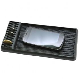 Protiskluzová podložka do auta s přihrádkou na mince