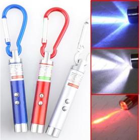 Svítilna s UV/laser/LED světlem 3v1 - mini na klíče