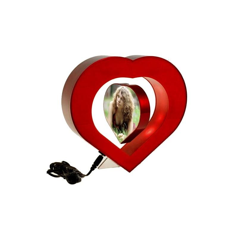 Antigravitační fotorámeček srdce