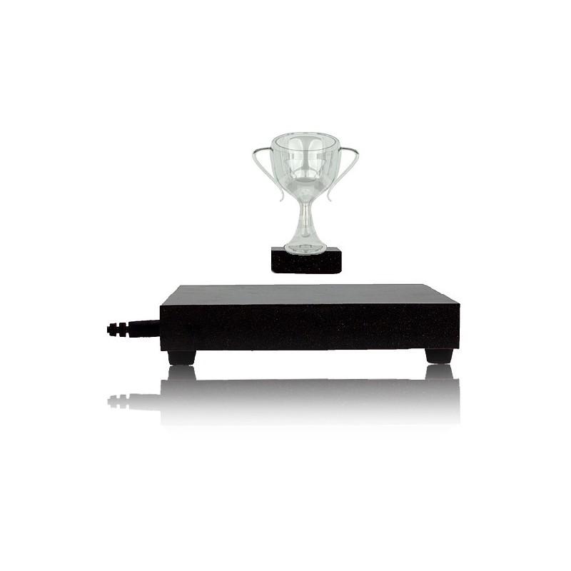 Levitační platforma černá s hranolem