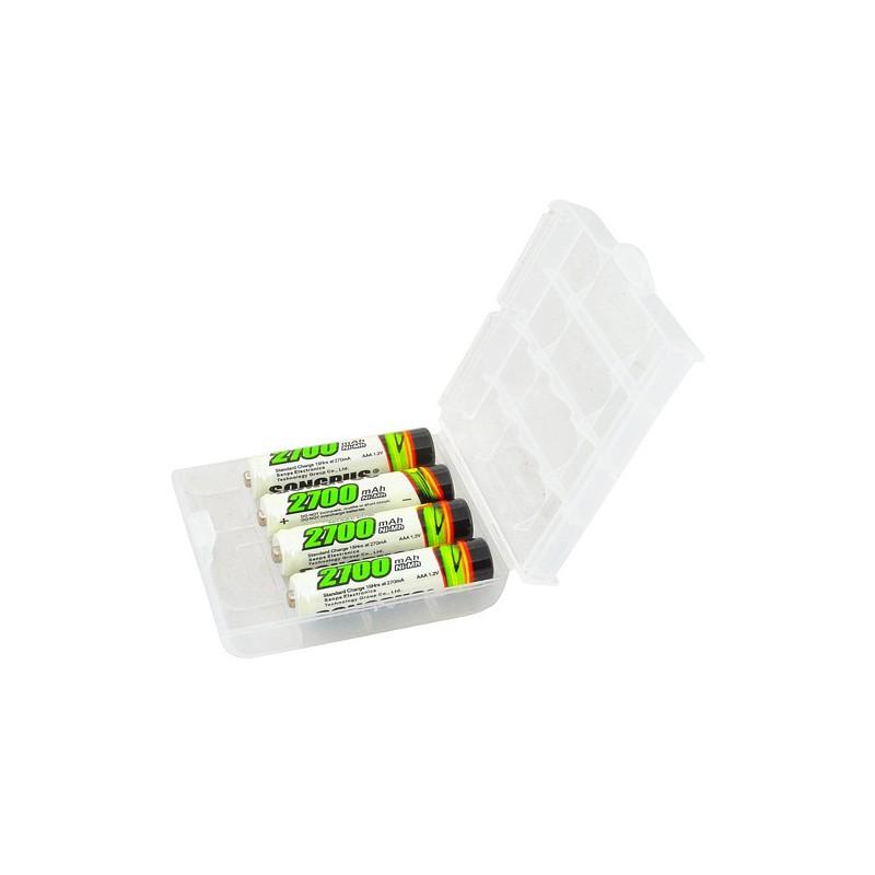 Akumulátorové NiMH baterie AAA 2700 mAh - 4 ks