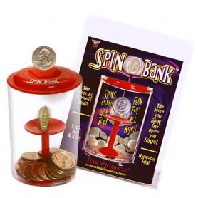 Kouzelná pokladnička roztáčející mince