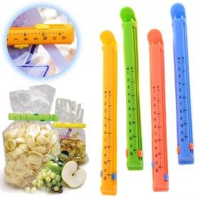 Kuchyňské svorky na sáčky s datem - dlouhé (4ks)