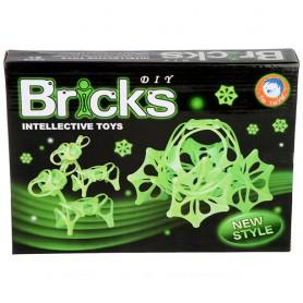 Stavebnice DIY Bricks ve tmě zářící