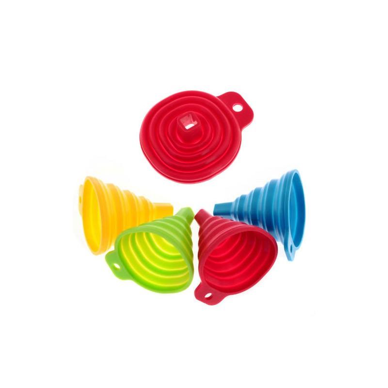 Skládací silikonový trychtýř