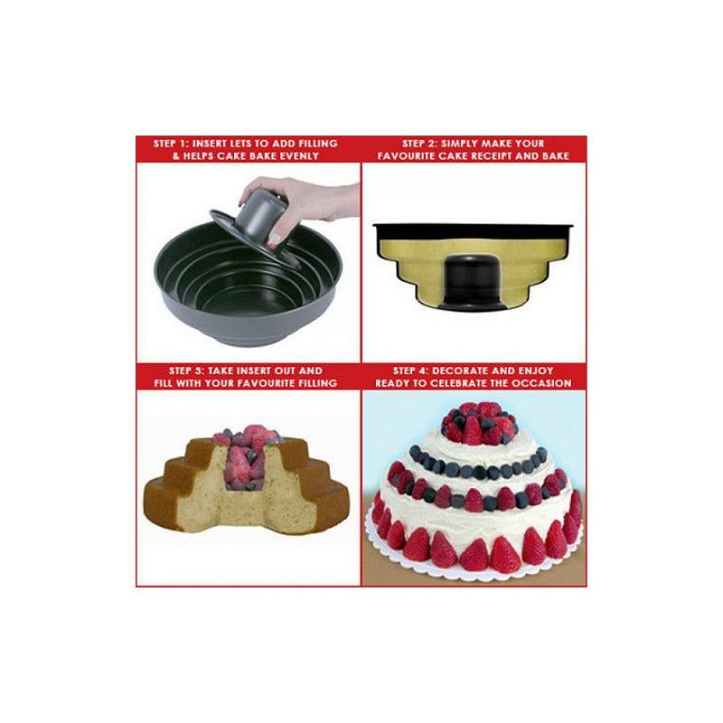 Forma na třípatrový plněný dort