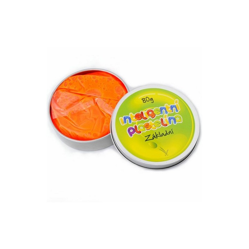 Inteligentní plastelína základní oranžová