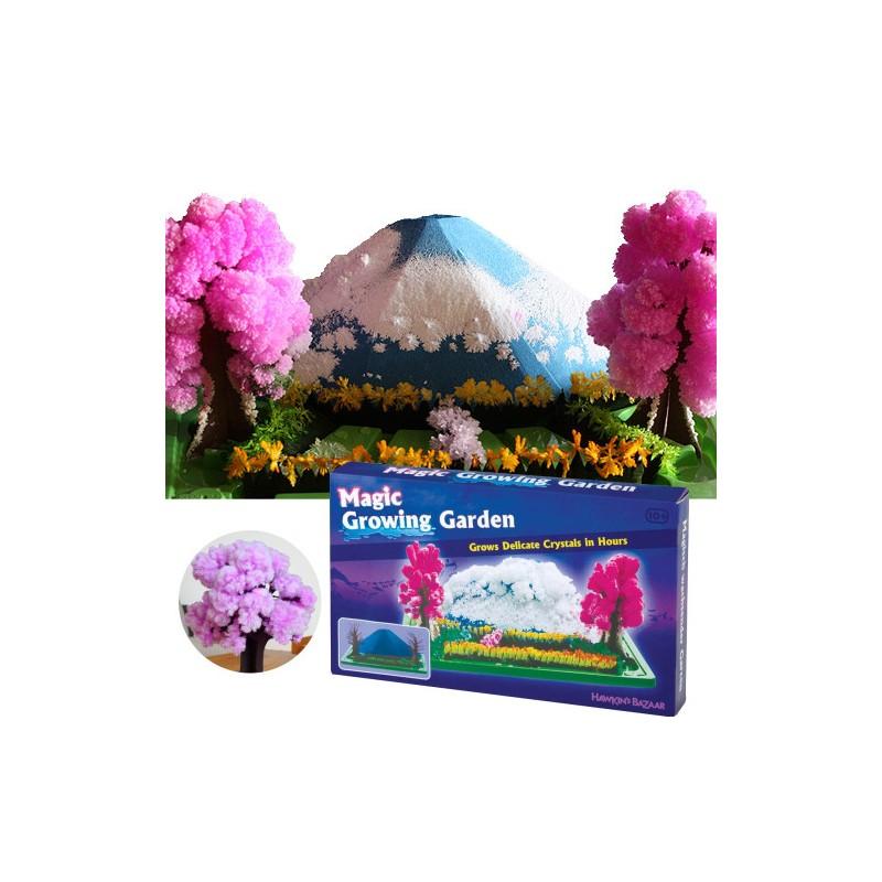 Magická zahrada rostoucích krystalů