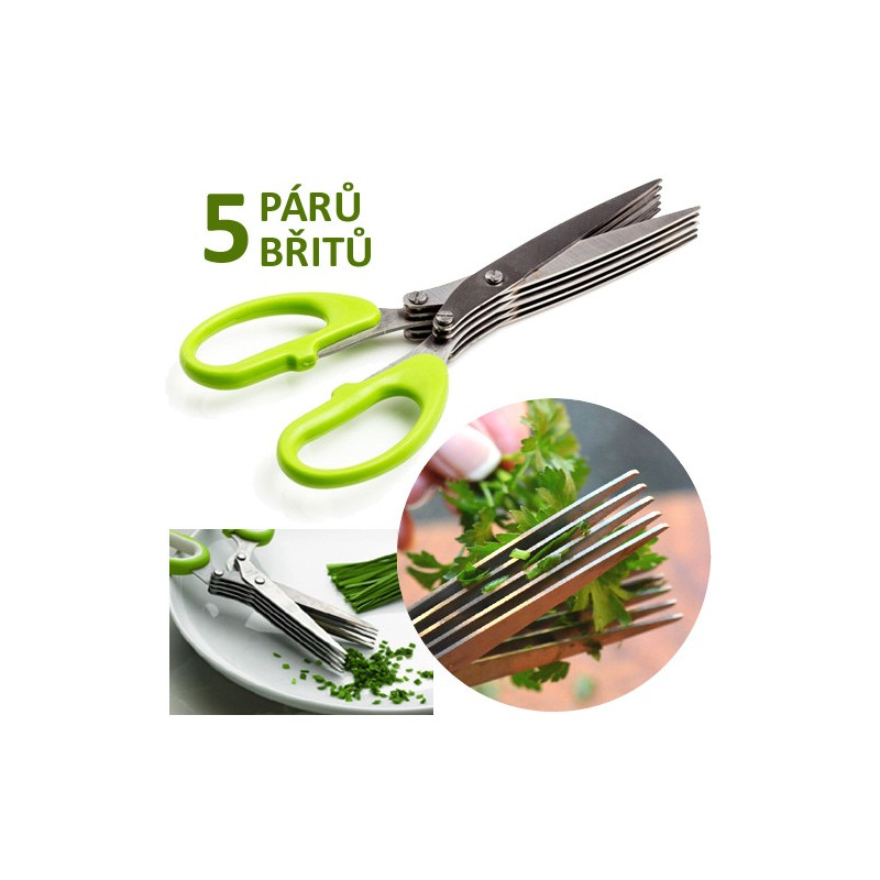 Nůžky na bylinky 5-břité