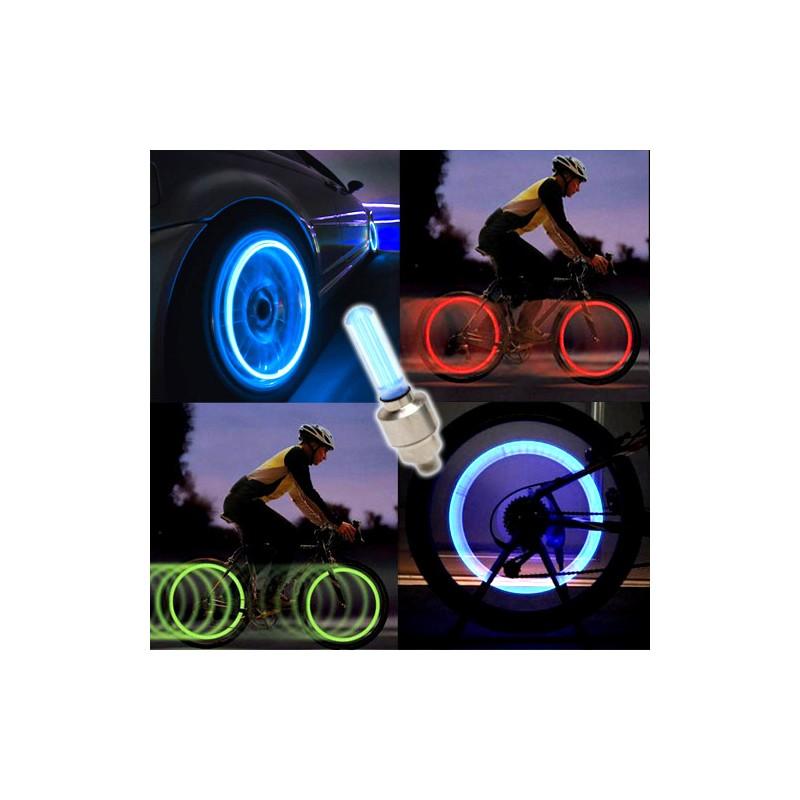Svítící LED ventilky 2ks - modré