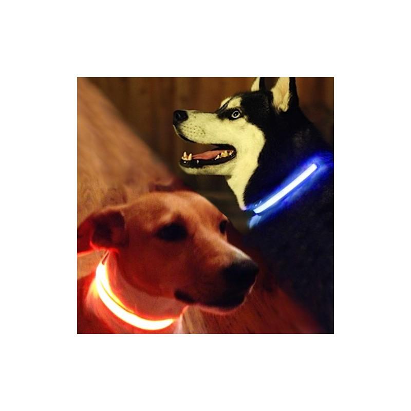 Svítící + reflexní obojek pro psy