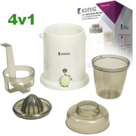 4v1 ohřívač kojeneckých lahví, sterilizátor, odšťavňovač a jogurtovač