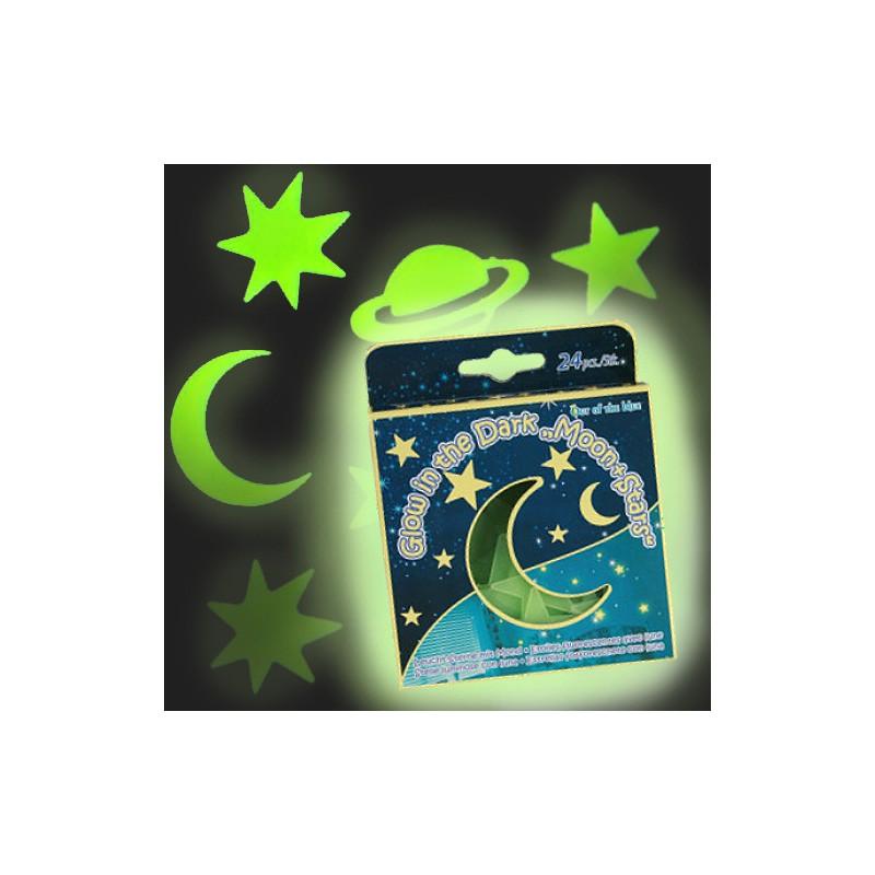 Hvězdy přilepovací zářící ve tmě - v krabičce