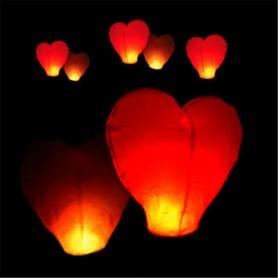 Lampion přání - 10 ks mix - srdce