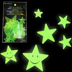 Hvězdy přilepovací zářící ve tmě IV.