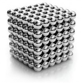 NeoCube niklový 5mm - magnetická kostka - v plechu