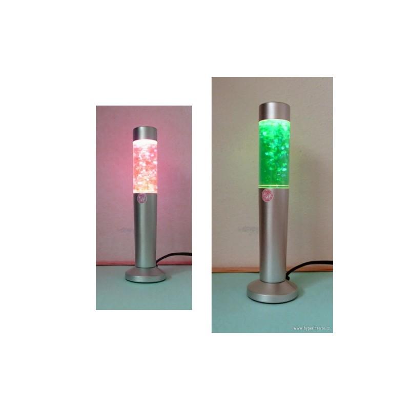 Lávová lampa s třpytkami