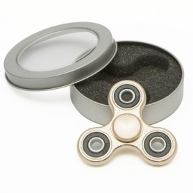 Fidget spinner - ocelový - v dárkové plechovce