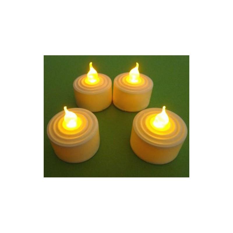 Elektronická čajová svíčka - se žlutým plápolavým plamenem - 4 ks