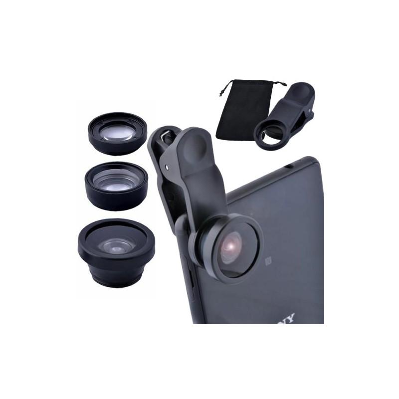 3v1 univerzální objektivy na mobilní telefon