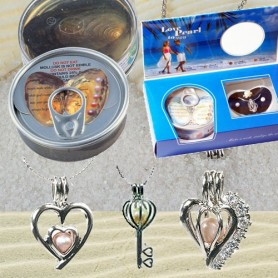 Perla přání v ulitě se zdobeným náhrdelníkem