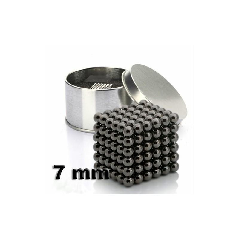 NeoCube černý 7mm - magnetická kostka - v plechu
