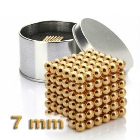 NeoCube zlatý 7mm - magnetická kostka - v plechu