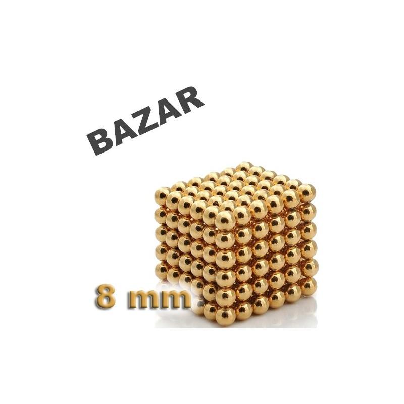 BAZAR: NeoCube zlatý 8mm - magnetická kostka - neúplná