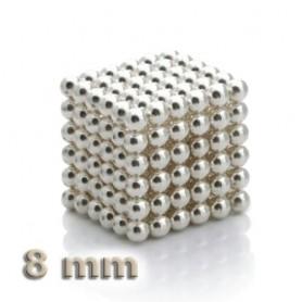 NeoCube stříbrný 8mm - magnetická kostka