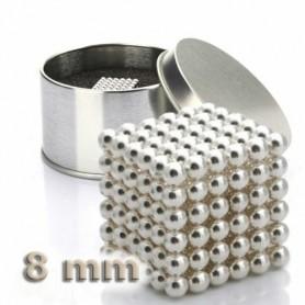 NeoCube stříbrný 8mm - magnetická kostka - v plechu
