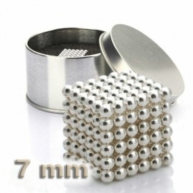 NeoCube stříbrný 7mm - magnetická kostka - v plechu