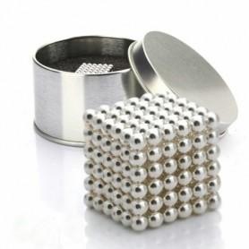 NeoCube stříbrný 5mm - magnetická kostka - v plechu