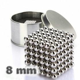 NeoCube niklový 8mm - magnetická kostka - v plechu