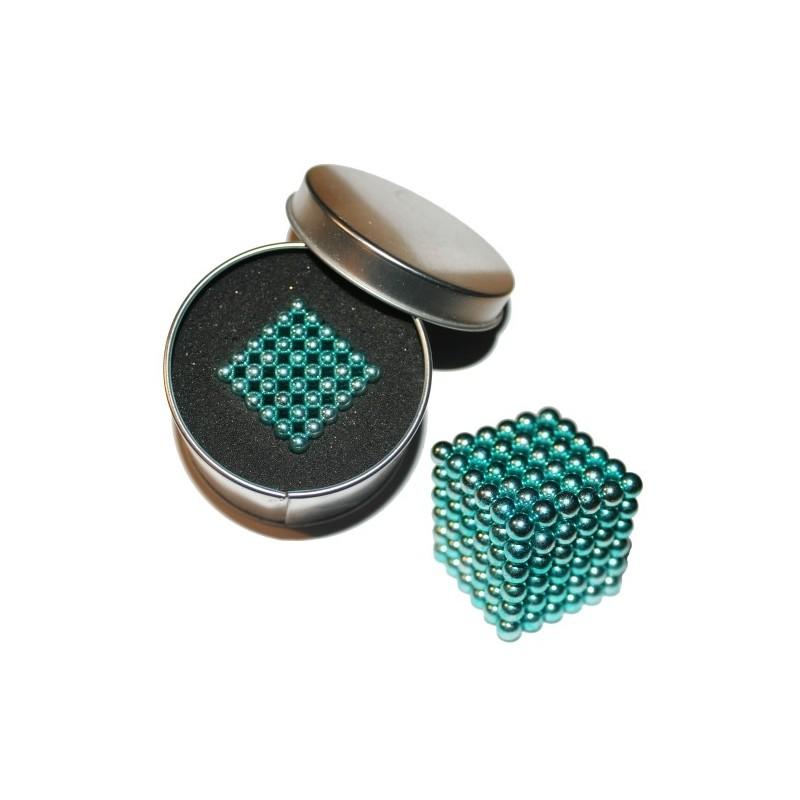NeoCube zelený 5mm - magnetická kostka - v plechu