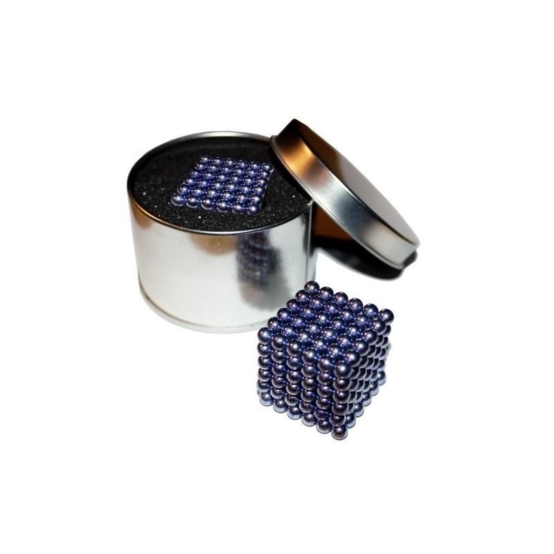 NeoCube fialový 5mm - magnetická kostka - v plechu