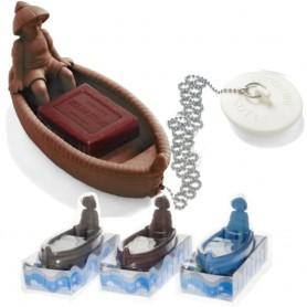 Plovoucí mýdlenka a špunt do vany - loďka a rybář