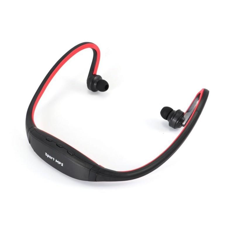 Sluchátka s integrovaným MP3 přehrávačem, rádiem a akumulátorem