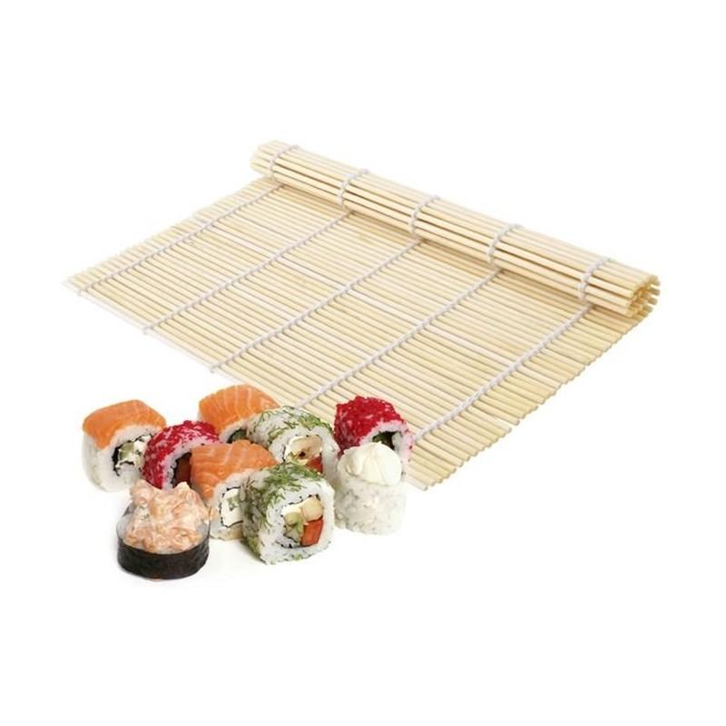Rolovací podložka na sushi bambusová