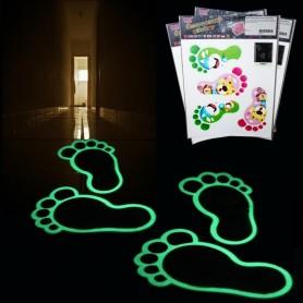 Nálepky - svítící stopy do koupelny